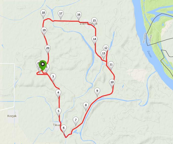 Baranjski-polumaraton-ruta